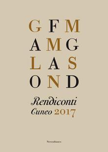 Rendiconti. Cuneo 2017 - copertina