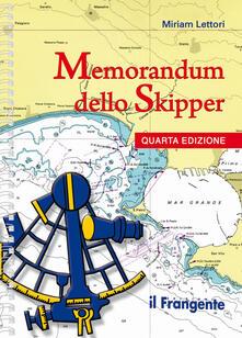 Daddyswing.es Memorandum dello skipper. Ediz. a spirale Image