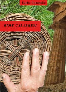 Rime calabresi - Egidio Tomasello - copertina