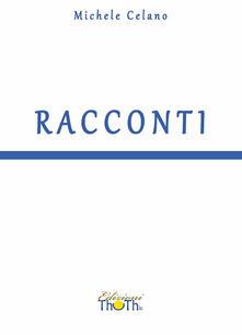 Racconti - Michele Celano - copertina