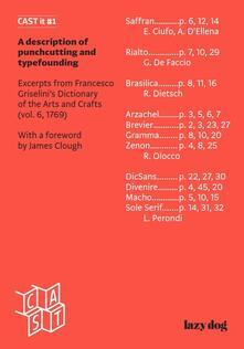 Cast it. ?A description of punchcutting and typefounding. Ediz. bilingue. Vol. 1 - copertina