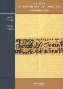 La saga di san Nicola da Tolentino. Edizione e traduzione italiana dei testi medio basso tedesco e antico islandese - copertina