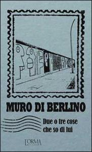 Muro di Berlino. Due o tre cose che so di lui