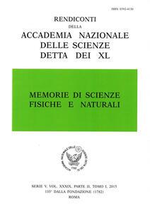 Memorie di scienze fisiche e naturali. Serie V (2015). Rendiconti della Accademia Nazionale delle Scienze detta dei XL. Vol. 34\2