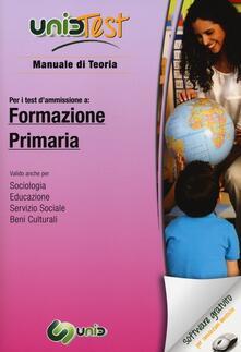 UnidTest 5. Manuale di teoria-Glossario per formazione primaria. Manuale di teoria per i test di ammissione... Con software di simulazione
