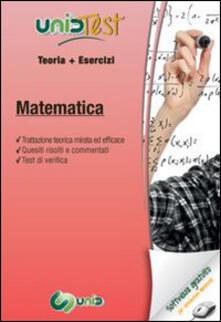 Capturtokyoedition.it UnidTest 14. Manuale di teoria-Esercizi di matematica. Con software di simulazione Image
