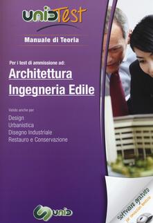 Criticalwinenotav.it UnidTest 3. Manuale di teoria-Glossario per i test di ammissione ad architettura e ingegneria edile. Con software di simulazione Image