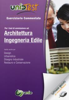 UnidTest 3. Eserciziario commentato per i test d'ammissione ad architettura ed ingegneria edile. Con software di simulazione - copertina