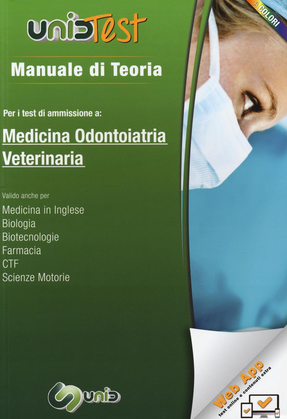 Image of Manuale di teoria per i test di ammissione a medicina, odontoiatria, veterinaria. Con aggiornamento online
