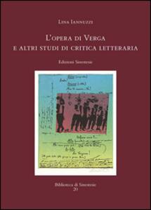 L' opera di Verga e altri studi di critica letteraria