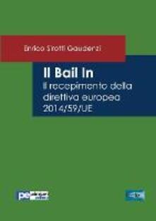 Radiosenisenews.it Il bail in. Il recepimento della direttiva europea 2014/59/UE Image