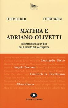 Mercatinidinataletorino.it Matera e Adriano Olivetti. Testimonianze su un'idea per il riscatto del Mezzogiorno Image