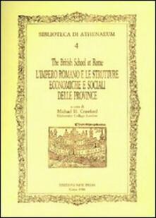 L' impero romano e le strutture economiche e sociali delle province romane - Michael Crawford - copertina