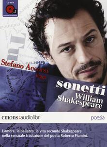 Criticalwinenotav.it Sonetti letto da Stefano Accorsi. Audiolibro. CD Audio formato MP3 Image