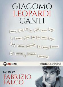 Radiospeed.it Canti letto da Fabrizio Falco. Audiolibro. CD Audio formato MP3 Image