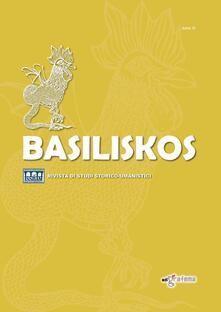 Basiliskos. Rivista di studi storico-umanistici. Vol. 3 - copertina