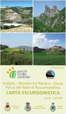 Warholgenova.it Carta escursionistica Guiglia, Marano sul Panaro, Zocca. Parco dei Sassi di Roccamalatina. Scala 1:25.000 Image