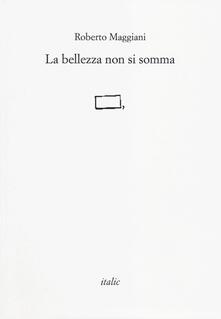 La bellezza non si somma - Roberto Maggiani - copertina