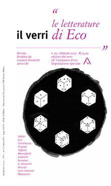 Camfeed.it Il Verri (2017). Vol. 63: letterature di Eco, Le. Image