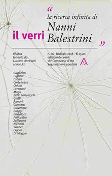 Winniearcher.com Il Verri (2018). Vol. 66: ricerca infinita di Nanni Balestrini, La. Image