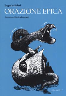Orazione epica - Eugenio Sideri - copertina