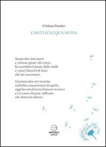 Canti d'acqua nuda - Cristina Finotto - copertina