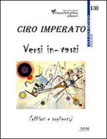 Versi in-versi (affilati e taglienti) - Ciro Imperato - copertina