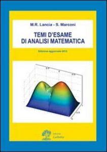 Temi d'esame di analisi matematica