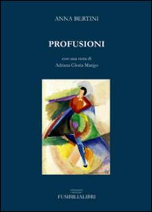 Profusioni - Anna Bertini - copertina