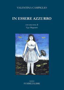 In essere azzurro - Valentina Campiglio - copertina