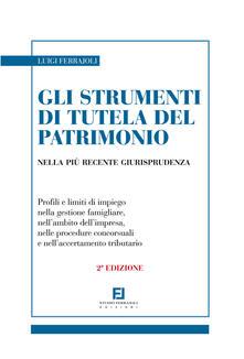 Gli strumenti di tutela del patrimonio nella più recente giurisprudenza - Luigi Ferrajoli - copertina