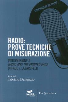 Grandtoureventi.it Radio. Prove tecniche di misurazione. Introduzione a «Radio and the printed page» di Paul Lazarsfeld Image