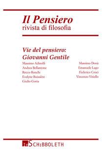 Camfeed.it Il pensiero. Rivista di filosofia (2014). Vol. 53: Vie del pensiero: Giovanni Gentile. Image