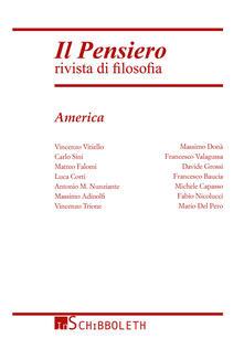 Il pensiero. Rivista di filosofia (2015). Vol. 54: America. - copertina