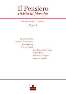 Libro Il pensiero. Rivista di filosofia (2016). Nuova ediz.. Vol. 55\1: Hegel.