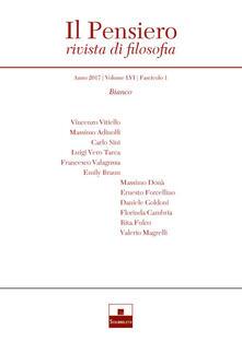 Il pensiero. Rivista di filosofia (2017). Vol. 56\1: Bianco. - copertina