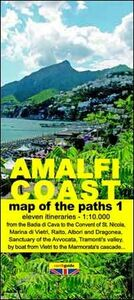 Map of the paths of the Amalfi coast. Scale 1:10.000. Vol. 1: From Vietri sul Mare to Minori.