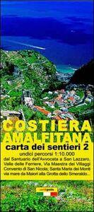 Mappa dei sentieri della costiera Amalfitana. Scala 1:10.000. Vol. 2: Da Maiori al Fiordo di Furore.