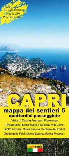 Daddyswing.es Mappa dei sentieri di Capri. Scala 1:10.000. Vol. 5: Quattordici passeggiate alla scoperta dell'isola di Capri. Image