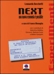 Next. Una nuova economia è possibile - Leonardo Becchetti - copertina