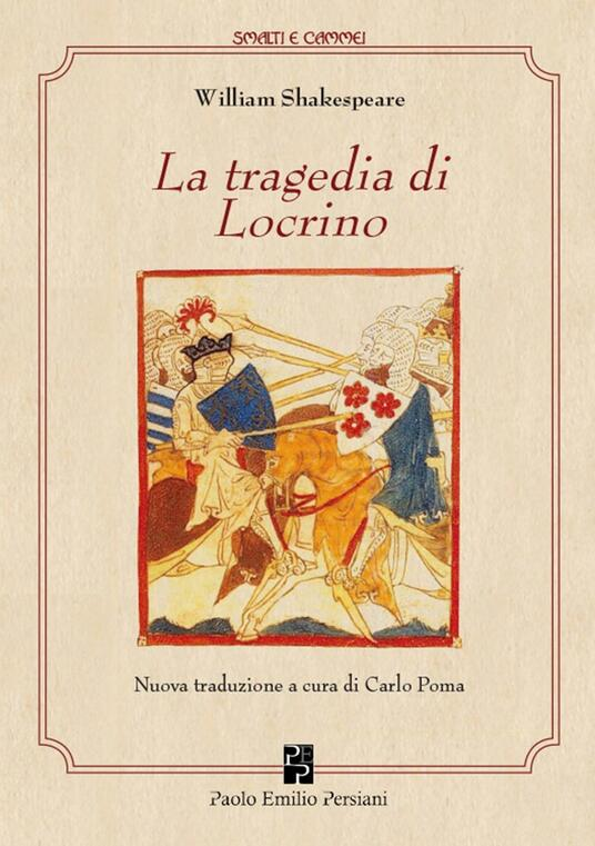 La tragedia di Locrino - William Shakespeare - copertina