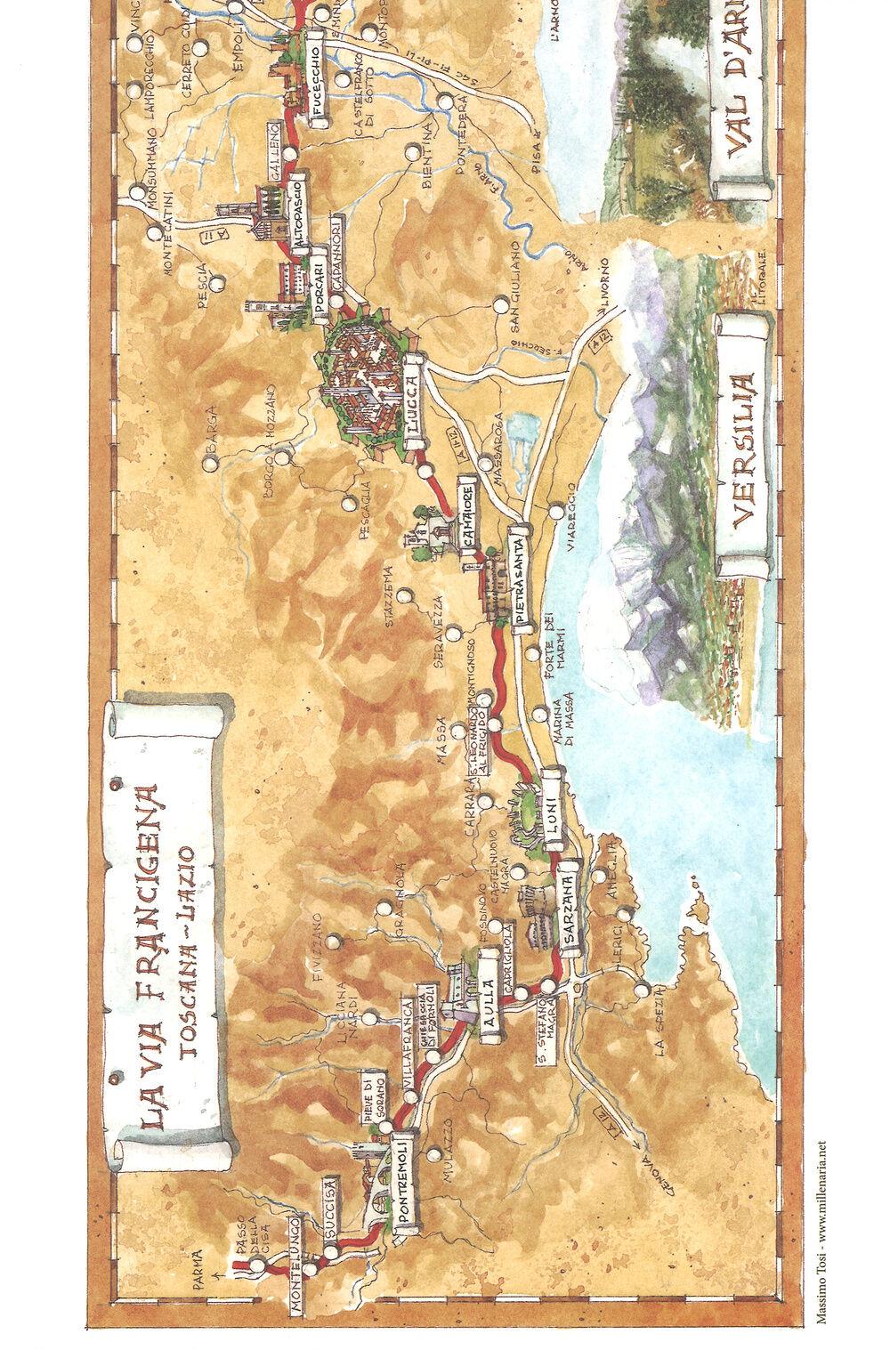 La via Francigena Toscana-Lazio. Ediz. italiana e inglese