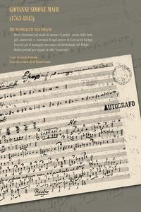Giovanni Simone Mayr (1763-1845). Con CD-Audio - - wuz.it