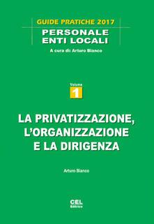 La privatizzazione, l'organizzazione e la dirigenza