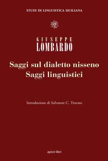 Saggi linguistici e saggi sul dialetto nisseno - Giuseppe Lombardo - copertina