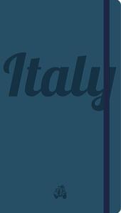 Italy. Notebook . Blue cover. Ediz. bilingue