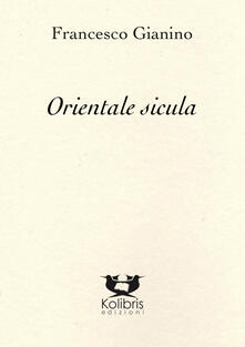 Orientale sicula - Francesco Gianino - copertina