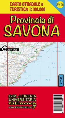 Radiospeed.it Provincia di Savona. Carta stradale e turistica 1:100.000 Image