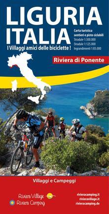 Premioquesti.it Liguria Italia riviera di Ponente. Carta turistica, sentieri e piste ciclabili. Villaggi e campeggi Image
