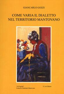 Grandtoureventi.it Come varia il dialetto nel territorio mantovano Image